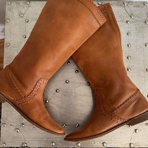 Frye Tall Paige Whipstitched Leather Riding Boots